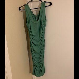 Dolce and Gabbana ruched mint mini dress